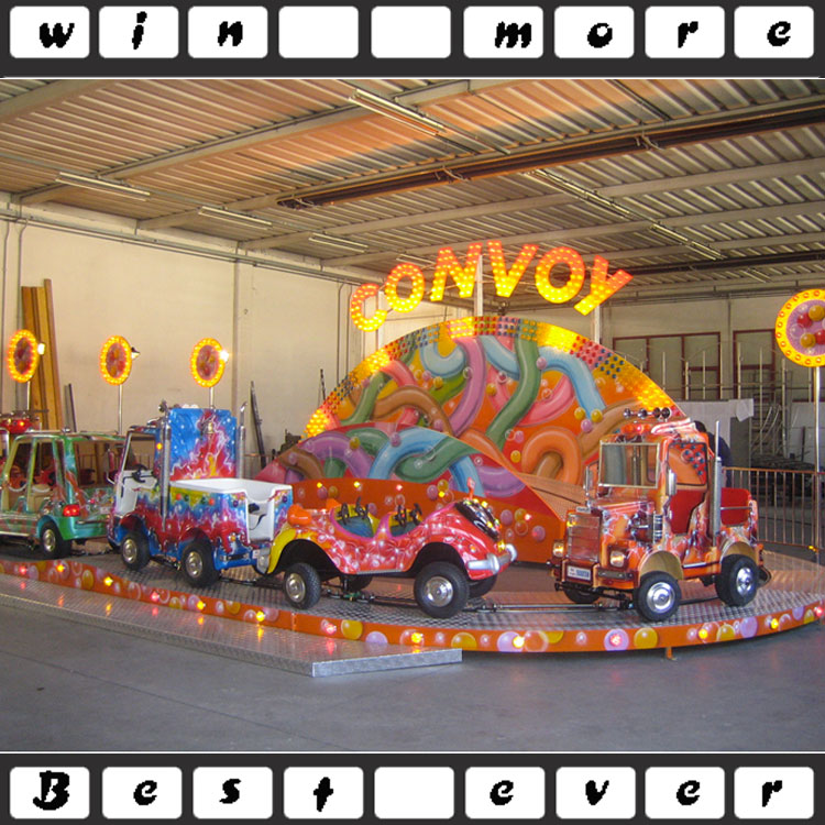 2016 cheap kiddie rides mini convoy ,small roller coaster for sale