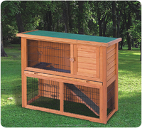 Hot-sale wooden outdoor cage for rabbit