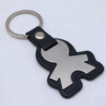 wholesale blank people shape keychain