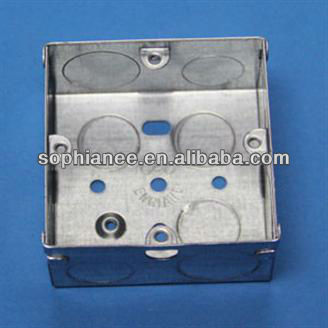 Small 3X3 Metal Junction Box/ Electrical Wall Outlet Metal Box