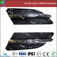 Special led drl light,with turn function,white,led drl for BMW X3,side 6leds