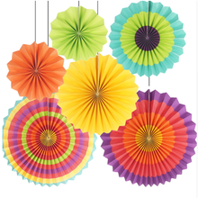 Event &Party Supplies Colorful Paper Fans for Wedding Birthday Party Home Decorations party hanging
