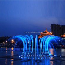 Decorative outdoor floating led laser water music fountain for engineering project