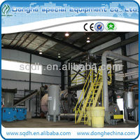 batch model waste car tyres pyrolysis plant with capacity of 6T/D