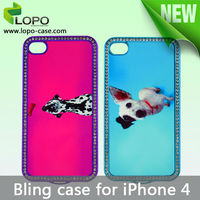 Hot Selling sublimation bling cover case for iPhone 4/4S