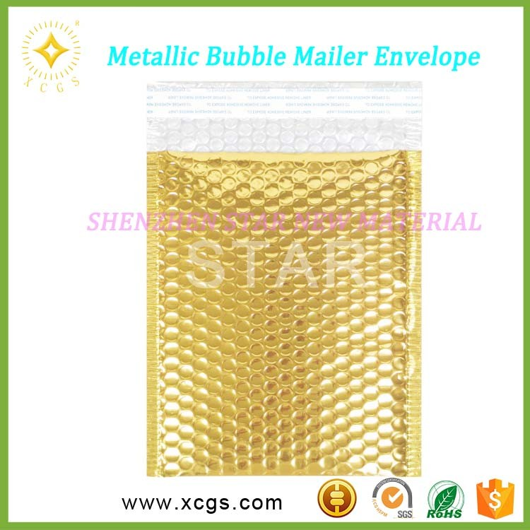Customized Color Bubble Mailer Bags/ Metallic Printed Colored Protective Padded Envelopes