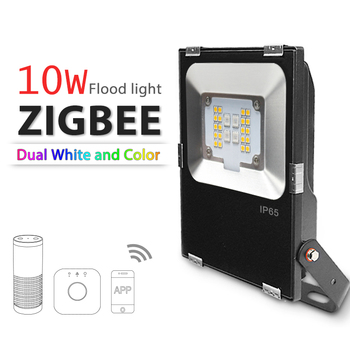 10W Zigbee RGB+CCT led flood light outdoor led advertising projector AC100-240V searchlight work with amazon alex