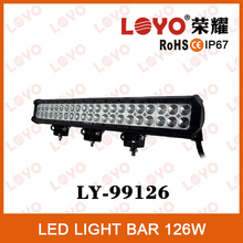 FACTORY WHOLESALE 126w offroad led light bar led driving light bar double row led light bar