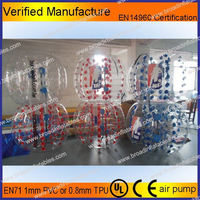 HOT!! Factory supply tpu hand stitch soccer bubble
