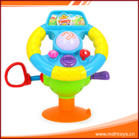 Education musical electronic plastic toys kids steering wheel toy