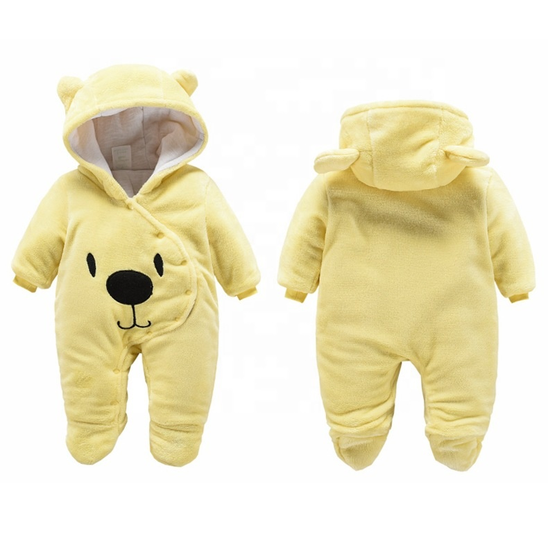 Mother & Kids Tireless New Lovely Newborn Baby Rompers Infant Baby Boy Girl Cotton Blend Romper Long Sleeve Jumpsuit Autumn Winter Warm Printed Outfit