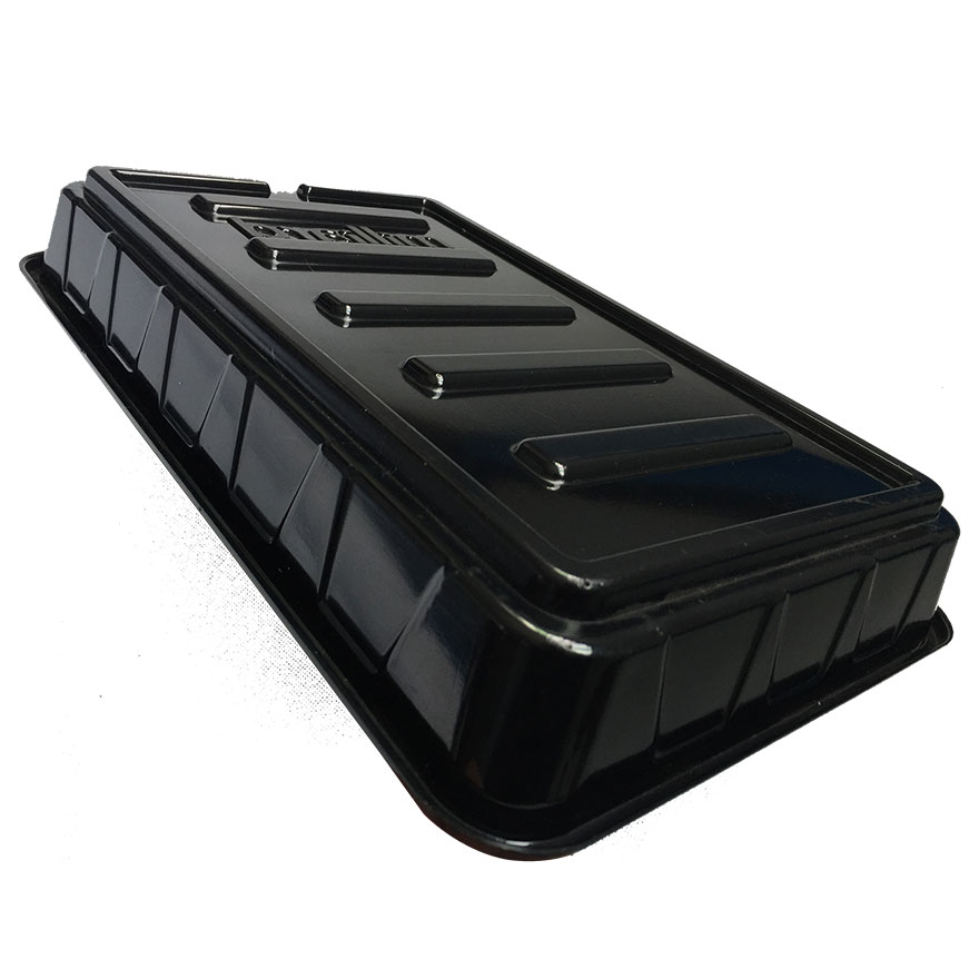 Shiny black oem design vacuum forming plastic products service tray