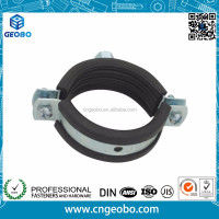 Heavy Duty Two screws pipe clamp with EPDM rubber Lining