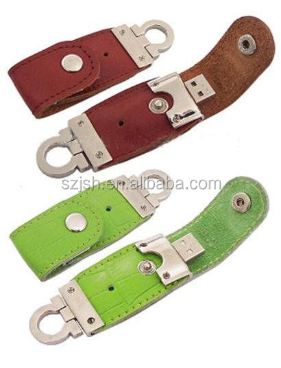 2017 wholesale cheapest custom leather case usb flash drive 1GB to 64GB