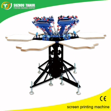 Six color screen printer for t shirt