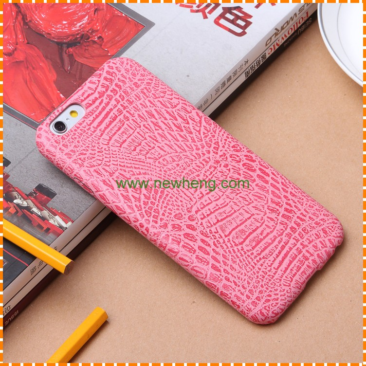 Crocodile Grain PU Leather hard phone back cover case for iphone 7