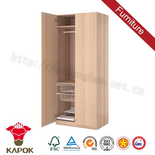 Wall to wall sliding children wooden wardrobe colour