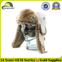 Russian Custom Winter Ski Faux Fur Wholesale Earflap Trapper Hat