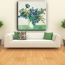Home decor handmade decorative beautiful orchid flower canva painting