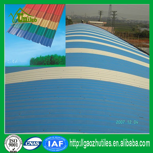 anti-corrosion low price top level pvc roofing shingles prices