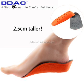 in sock invisible pu foam heel lift shoe insoles height increase insoles