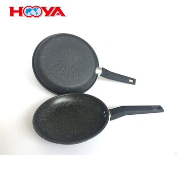 Aluminum Medical stone Frying pan with handle nonstick cooking pan