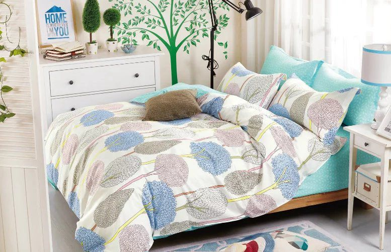 china supplier home textile 100% cotton bed cover