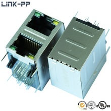 0845-2R1T-GC Multi Port RJ45 Connector With Transformer Internal Magnetics