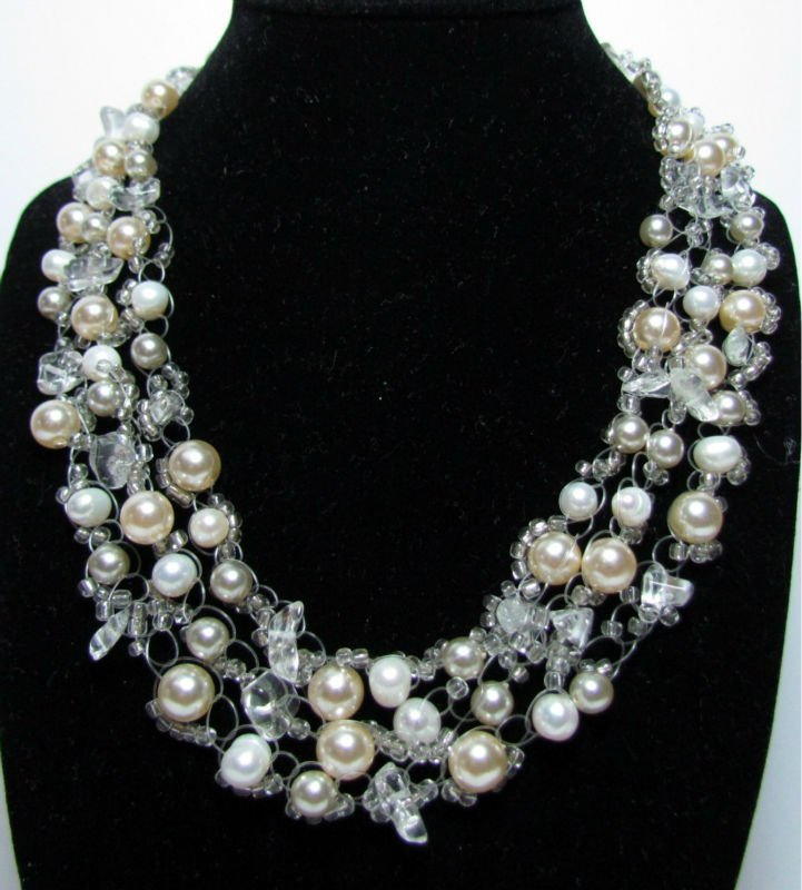 PEARL BY IRENE SWAN CULTURED PEARL QUARTZ