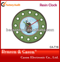 resin ball clock design wall clock