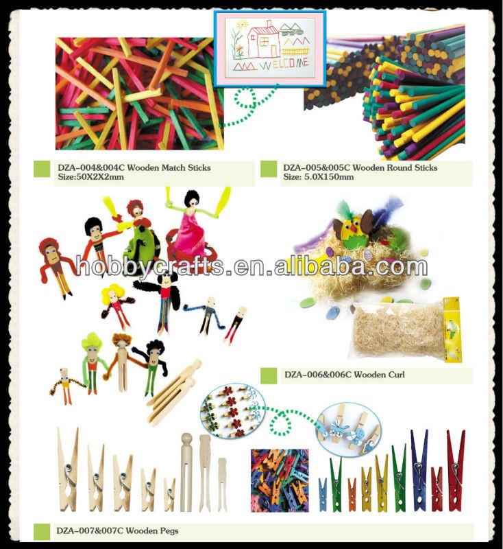 Wholesale 114x10x2mm Natural Wooden Craft Sticks for kids DIY toy