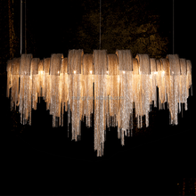 Modern Decorative LED Lighting Volver Combines Luxury Chain Chandelier light