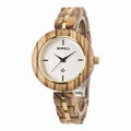 Fashion oem slim waterproof handmade wooden lady wrist watch