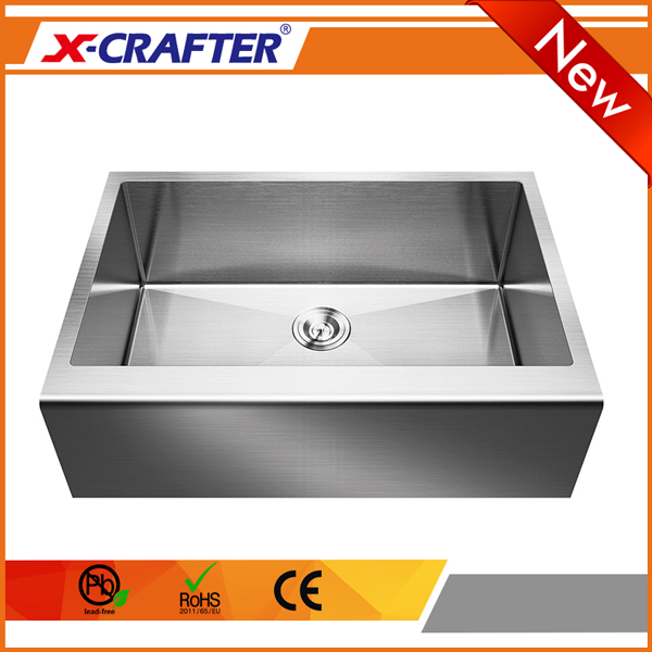 Wholesale single bowl straight stainless steel apron <strong>kitchen</strong> <strong>sink</strong> basin