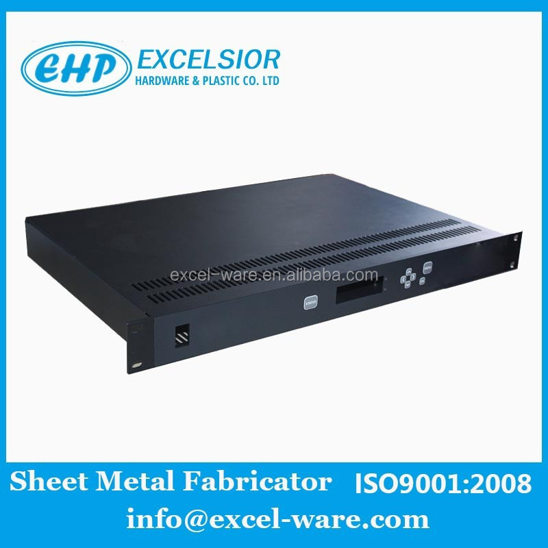 oem 1u 19 inch network server rack with hole usb links plating polishing treatment Easy to heat dissipation