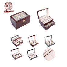 Display case for 6slots 10slots 12slots watches Stock wooden watch box wholesale wooden watch case