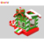 2018 Santa Claus inflatable bounce house combo slide for christmas