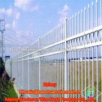 Plastic spraying rot proof zinc steel fence ring-type three beam type farm use Wrought iron fence