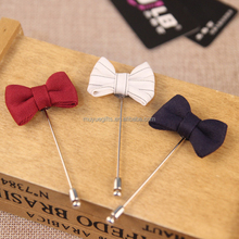 Promotional gifts handmade fake silk satin fabric men's suit flower brooch pins