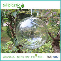 Hollow Design Clear Hanging Glass Ball for Christmas Decoration