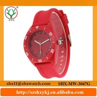 Useful design competitive price silicone wristband watch for male