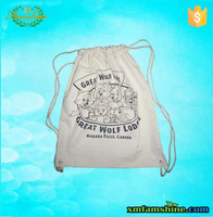 Hot sale natural drawstring rope cotton cinch bag