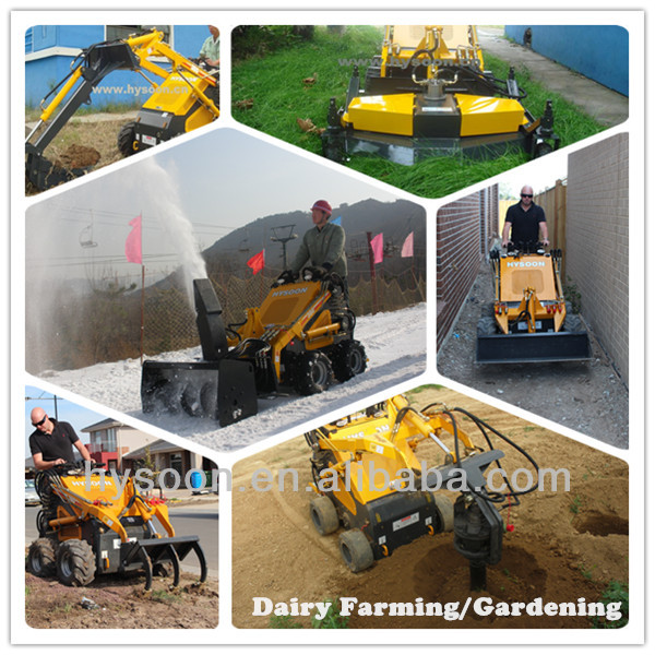 China factory supply 200kg 23hp hysoon mini skid steer loader
