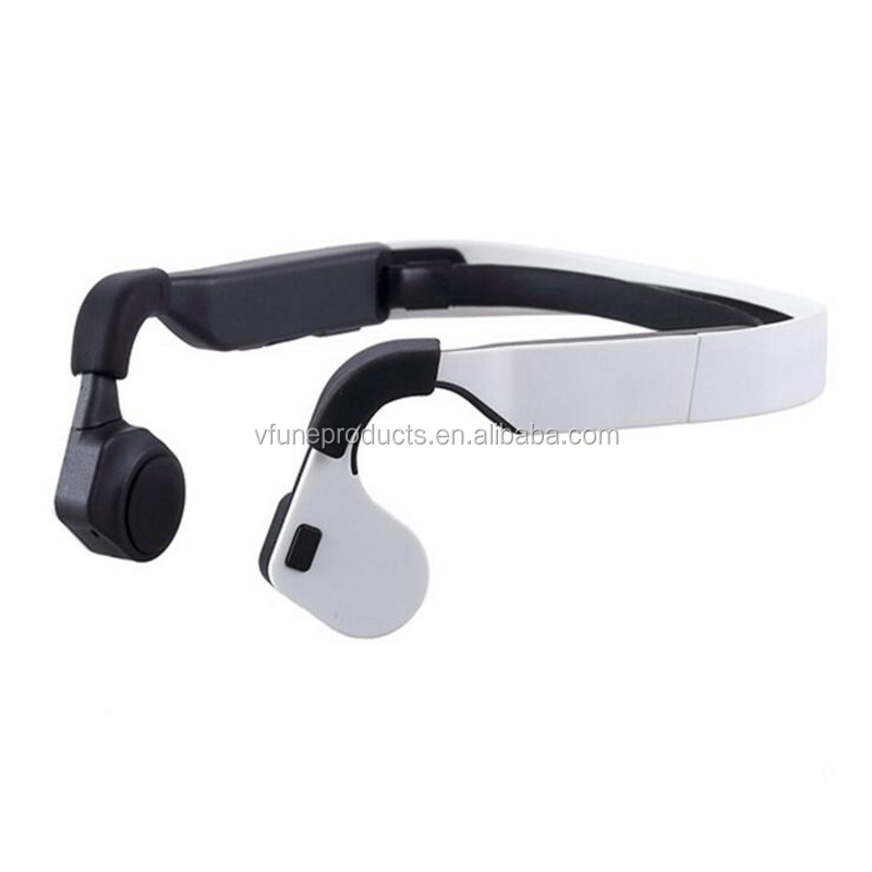 Green Rechargeable Sports Wireless Headset Bone Conduction Headset Hearing Aid Bone Conduction Earphone with Mic