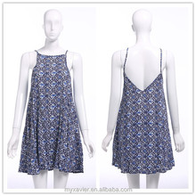New backless printed summer short dress, latest pakistani casual dress designs, wholesale women clothing