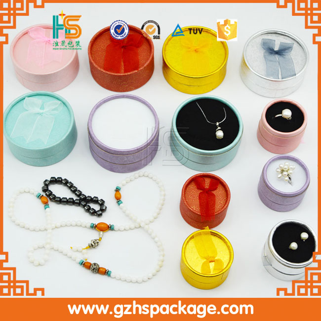 OEM factory custom cardboard cheap round/small jewelry boxes wholesale