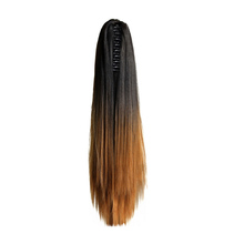 silky straight cheap ombre synthetic ponytail