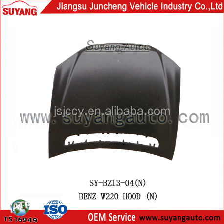 For W220 hot selling auto iron spare parts engine hood for sale