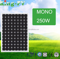 Hot sale 250W monocrystalline solar panel/panel solar/PV modules price per watt from China factory