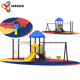 6.1*3.8*3.4m Homemade Large Decorative Plastic Outdoor Playground Slide